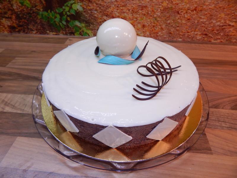 Čokoládový dort s přáním 2