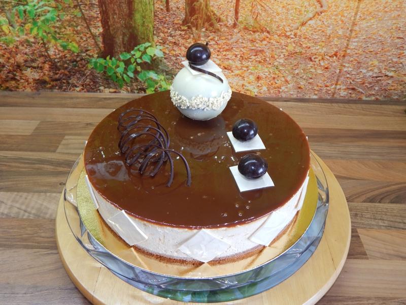 Karamelový dort s přáním 2